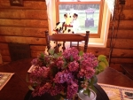 Lilacs From Our Bush on the Dining Table