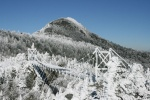 Grandfather Mountain and the Swinging Bridge frozen!