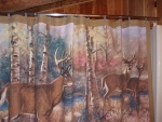 Shower curtain with deer