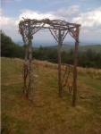 Twig Wedding Gazebo, made by groom for his bride
