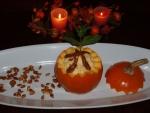 Pumpkin Mousse with Caramelized Pumpkin Seeds